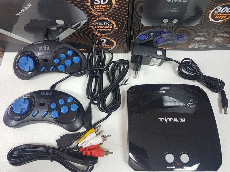 Игровая приставка Титан 3 500 игр Денди Сега Dendy Sega Mega 2