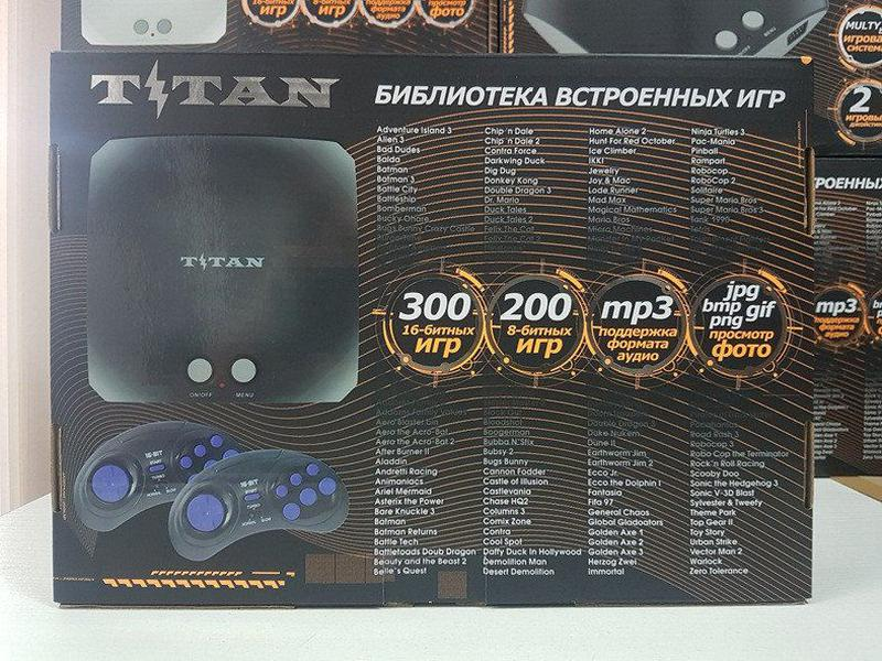 Игровая приставка Титан 3 500 игр Денди Сега Dendy Sega Mega 2 - Фото 3
