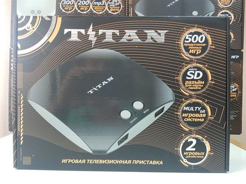 Игровая приставка Титан 3 500 игр Денди Сега Dendy Sega Mega 2 - Фото 4