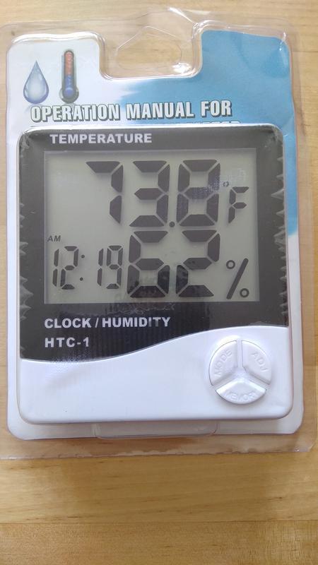 Метеостанция HTC 1, 4 в 1, термометр, гигрометр, часы и будильник