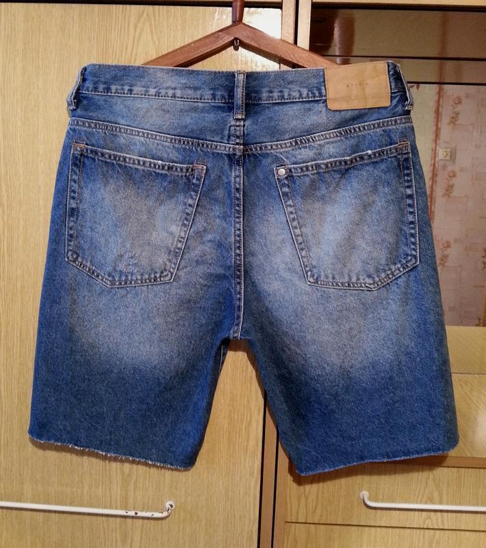 Джинсовые шорты,бриджи h&m.оригинал. - Фото 2