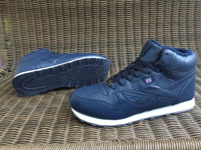 41-46 рр зимние синие кроссовки на меху теплые ботинки мужские...