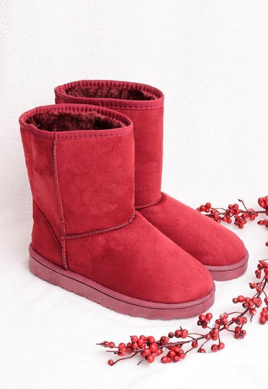 36-41 женские бордовые ( марсала )угги ( уги ,ботинки, сапоги)...