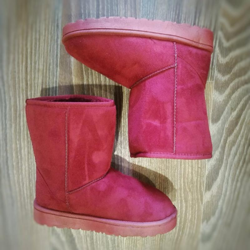 36-41 женские бордовые ( марсала )угги ( уги ,ботинки, сапоги)... - Фото 2