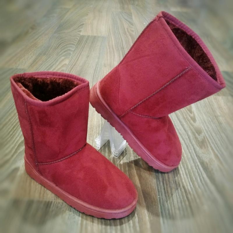 36-41 женские бордовые ( марсала )угги ( уги ,ботинки, сапоги)... - Фото 3