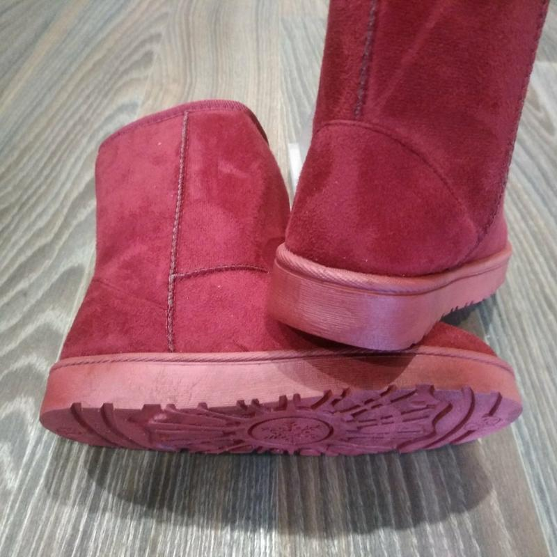 36-41 женские бордовые ( марсала )угги ( уги ,ботинки, сапоги)... - Фото 4
