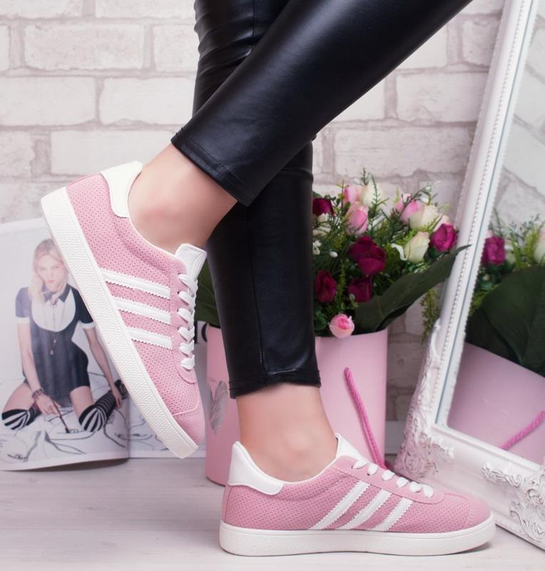 Sale 36-41рр женские кроссовки розовые кеды