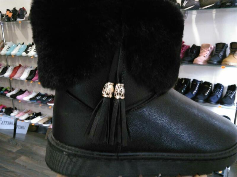 36р 37р 38р черные эко кожаные угги уги женские сапоги ботинки... - Фото 2