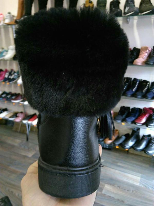 36р 37р 38р черные эко кожаные угги уги женские сапоги ботинки... - Фото 3
