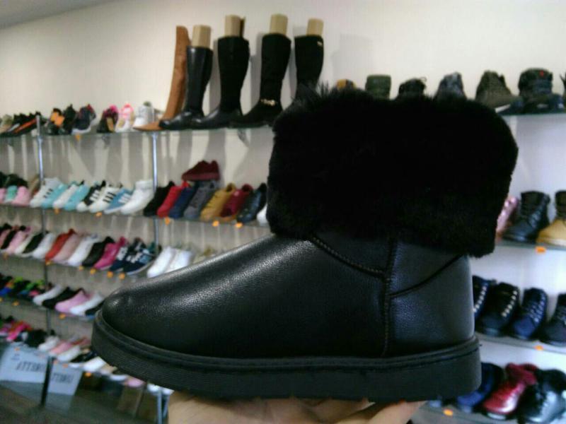 36р 37р 38р черные эко кожаные угги уги женские сапоги ботинки... - Фото 4