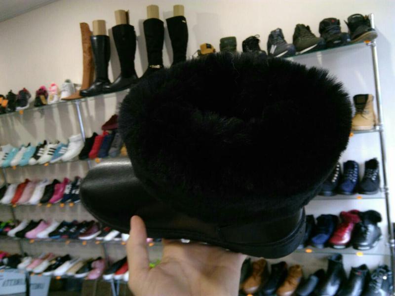 36р 37р 38р черные эко кожаные угги уги женские сапоги ботинки... - Фото 5