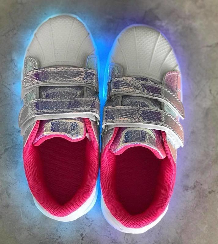 31-36 р светящиеся кроссовки led - Фото 2