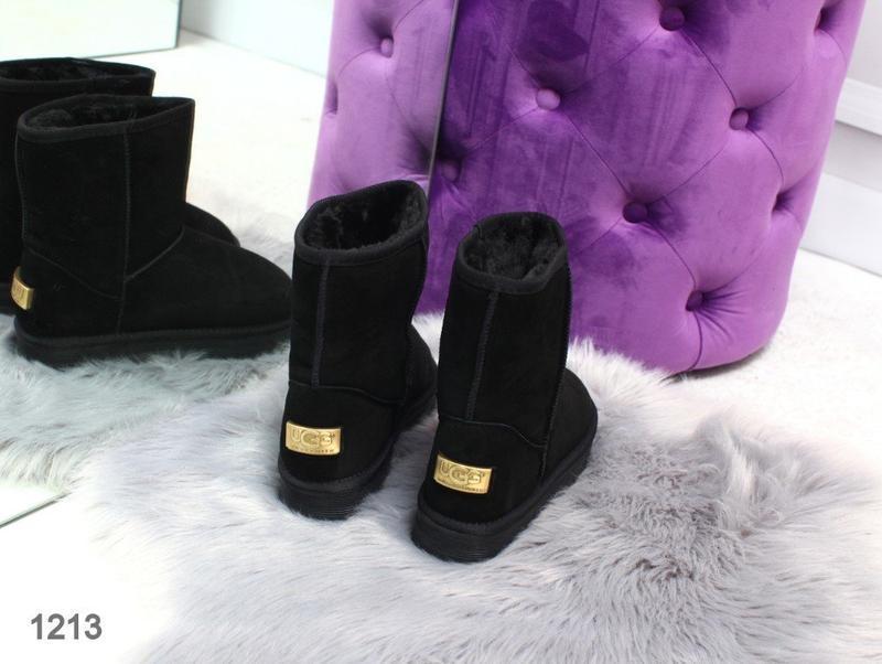 Sale 36-42р натуральные замшевые угги женские черные низкие за... - Фото 3