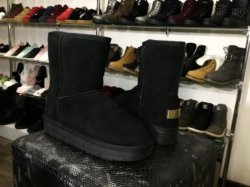Sale 36-42р натуральные замшевые угги женские черные низкие за... - Фото 5