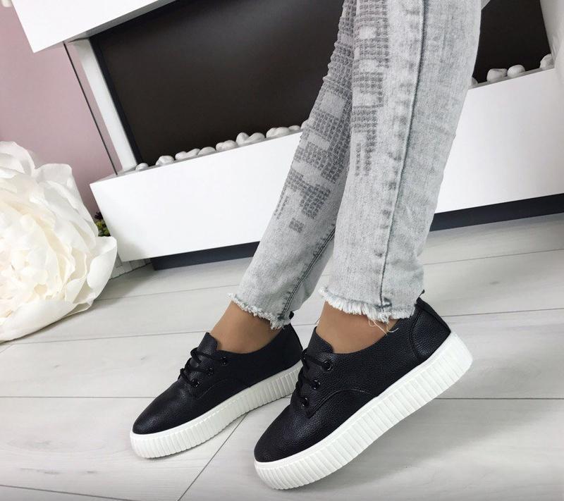 Черные криперы кеды кроссовки