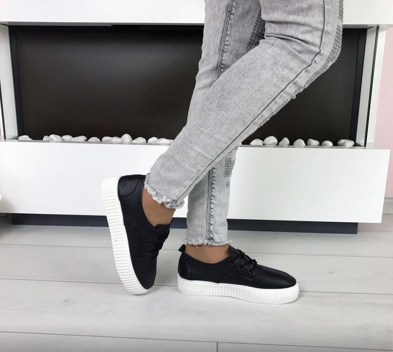 Черные криперы кеды кроссовки - Фото 2