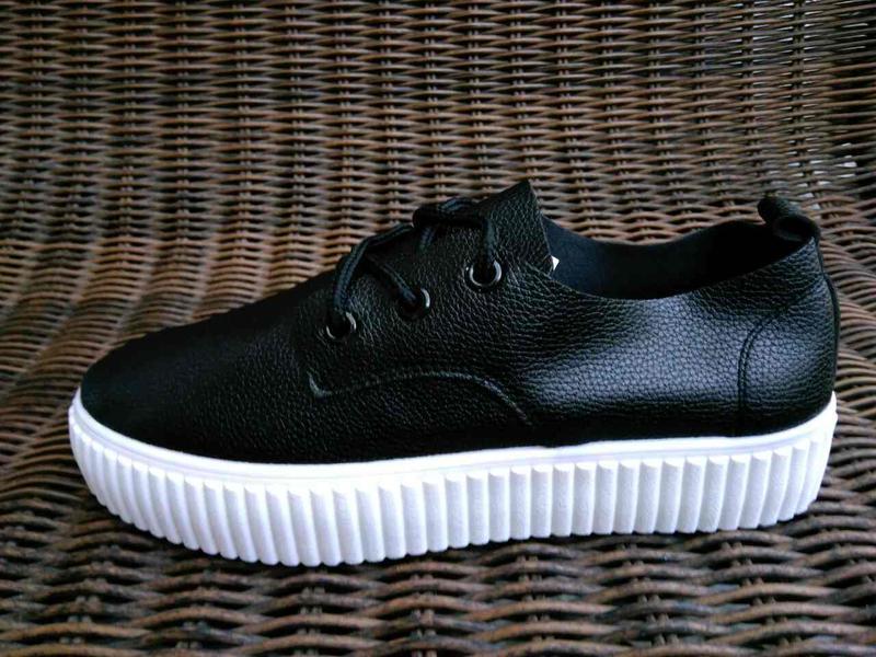 Черные криперы кеды кроссовки - Фото 3