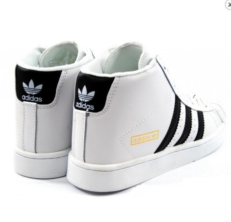 Высокие белые кроссовки ботинки 37 - Фото 4