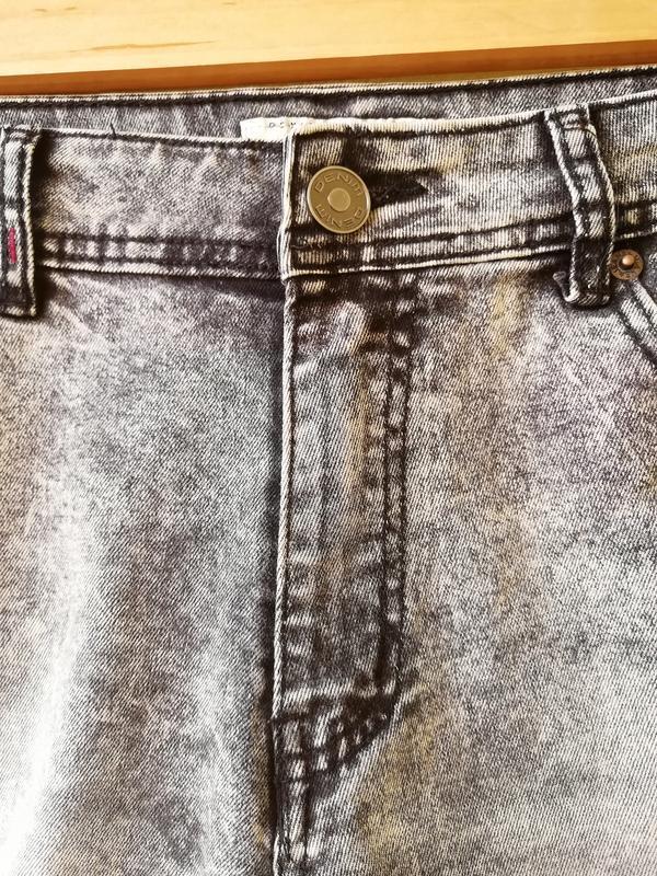 Шорты мужские джинсовые jack berry с дырками бриджи - Фото 4