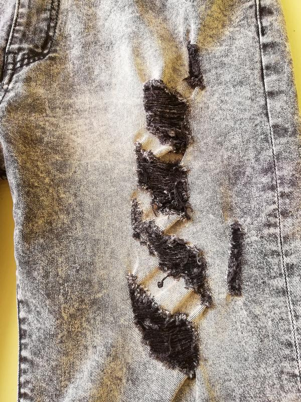 Шорты мужские джинсовые jack berry с дырками бриджи - Фото 6