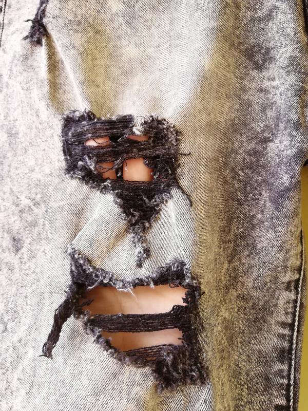 Шорты мужские джинсовые jack berry с дырками бриджи - Фото 7