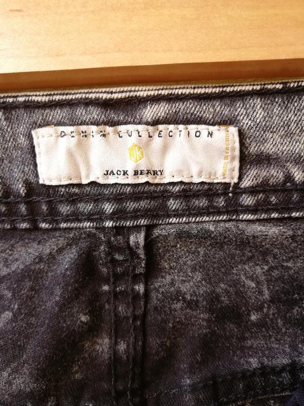 Шорты мужские джинсовые jack berry с дырками бриджи - Фото 8