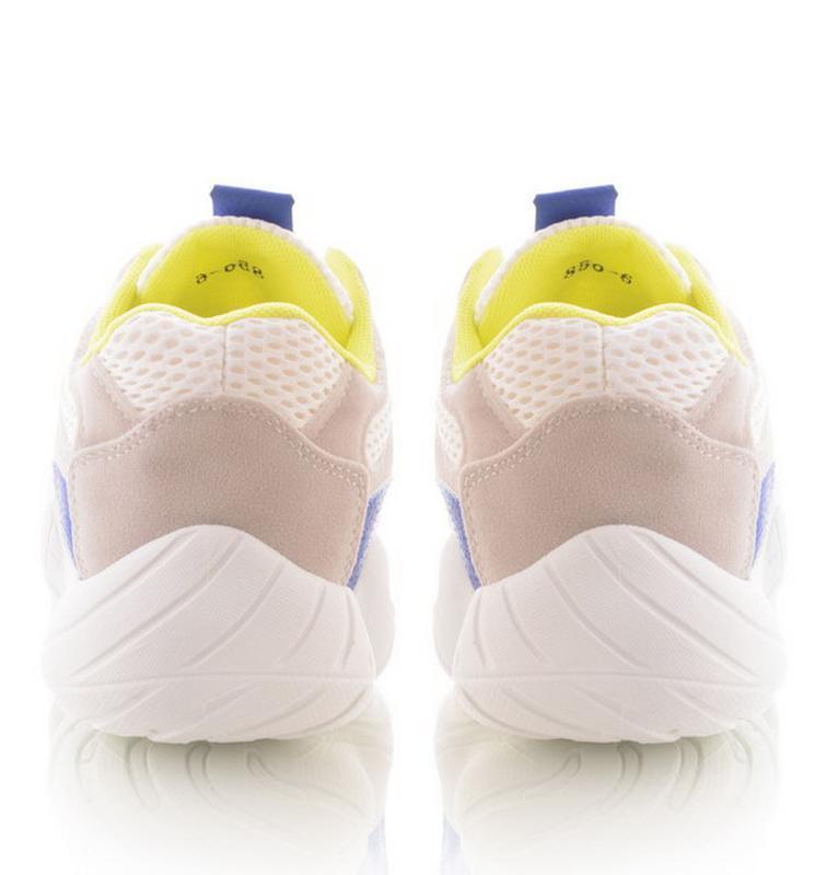 Тренд весны! белые яркие кроссовки кеды!yzy 500! - Фото 2