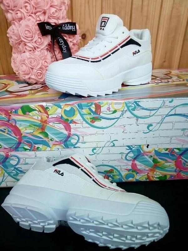 Белые филы кроссовки кеды!летние!дышащие! - Фото 5