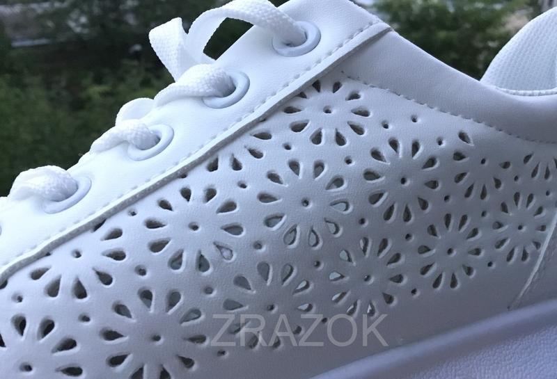 Белые кеды в стиле alexander mcqueen,белые летние кроссовки на... - Фото 3