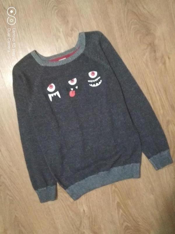 Тонкий свитер джемпер мальчику 122-130 Kiki&koko - Фото 2