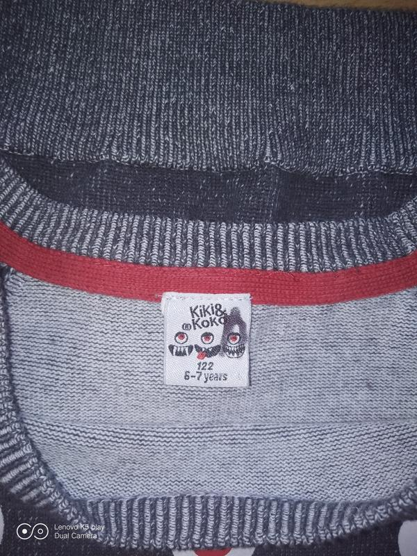 Тонкий свитер джемпер мальчику 122-130 Kiki&koko - Фото 5