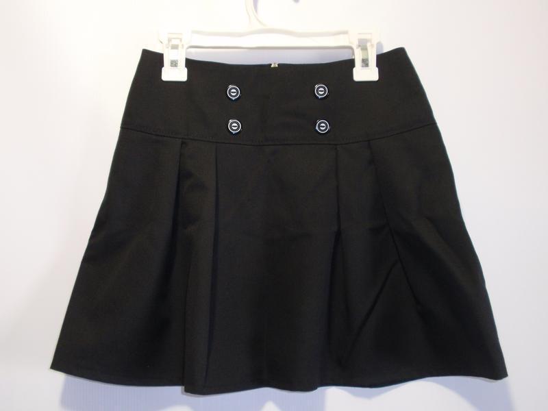 Юбка школьная черная для девочки р. 128-134