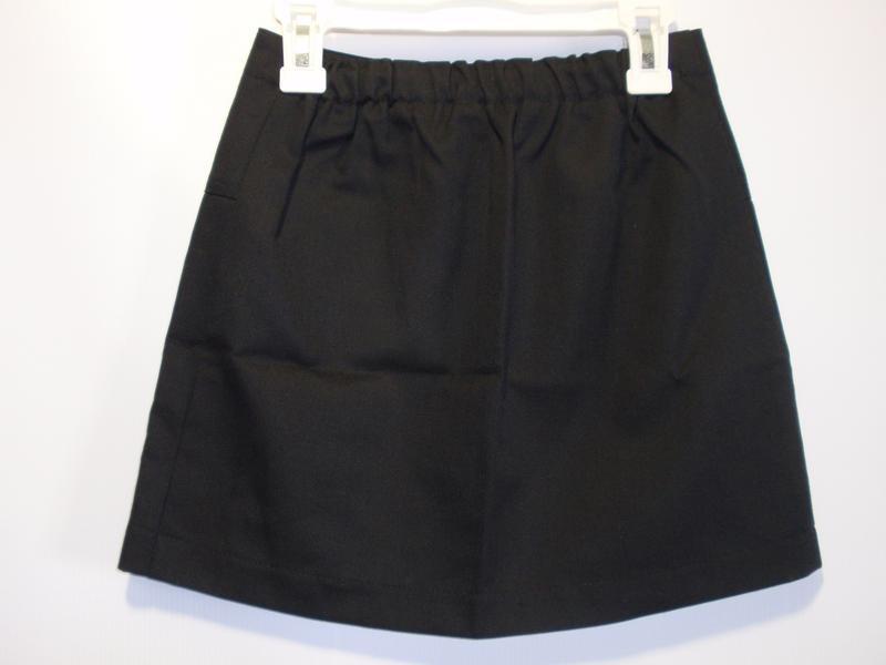 Юбка школьная черная для девочки р. 128-134 - Фото 2