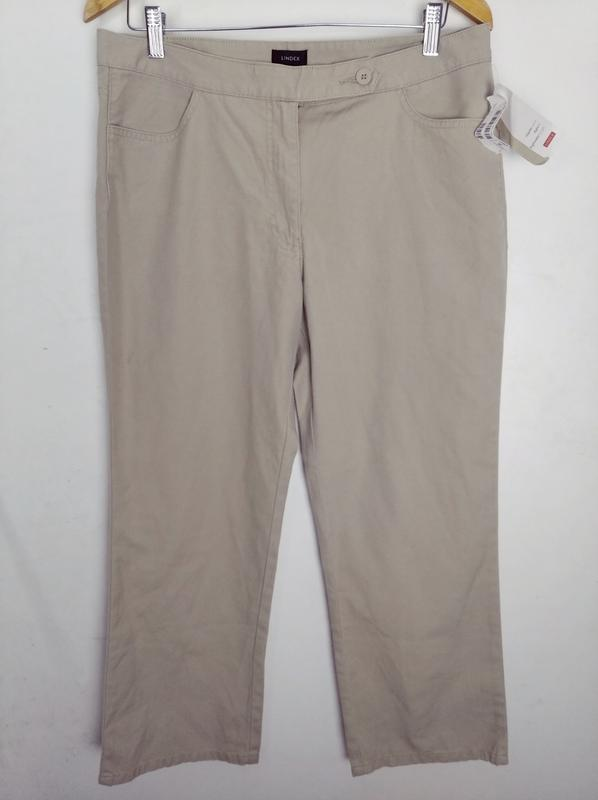 Бежевые хлопковые брюки