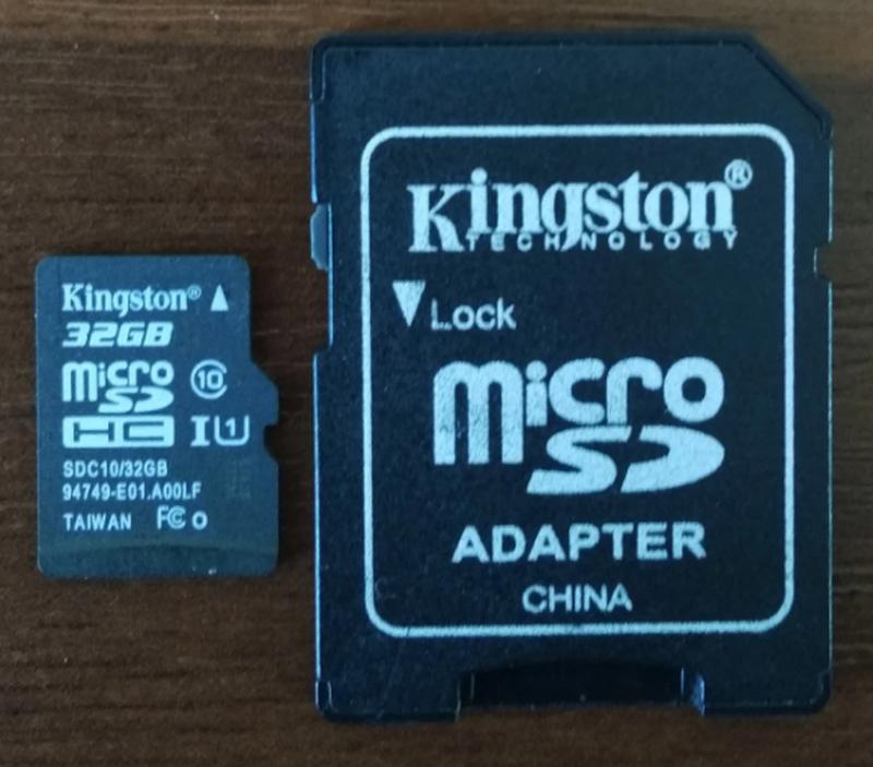 Карта памяти Kingston 32 Gb microSDHC class 10