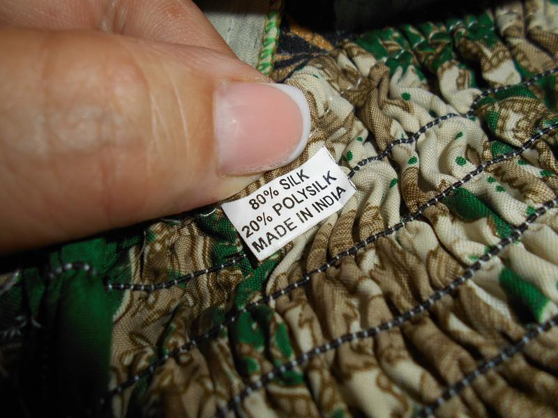 #цветастая индийская широкая юбка в пол из шелка #юбка воланы # - Фото 4
