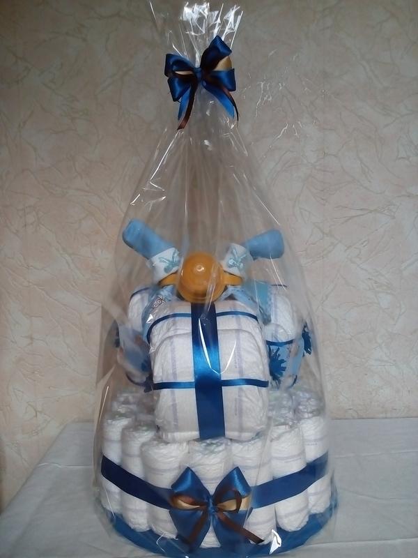 Торти з підгузків / Торты из подгузников / Торты из памперсов - Фото 4