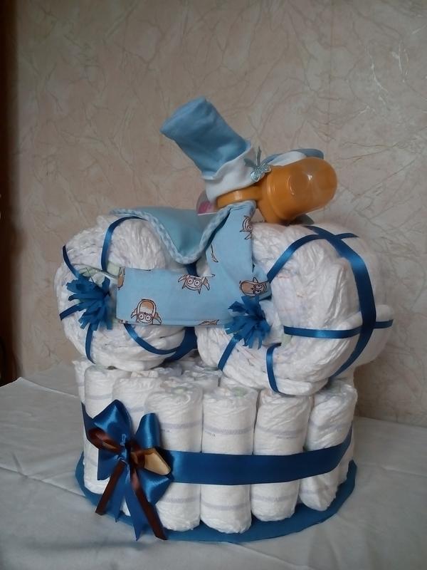 Торти з підгузків / Торты из подгузников / Торты из памперсов - Фото 2