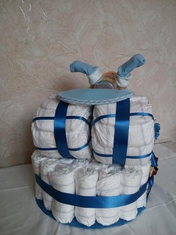 Торти з підгузків / Торты из подгузников / Торты из памперсов - Фото 3