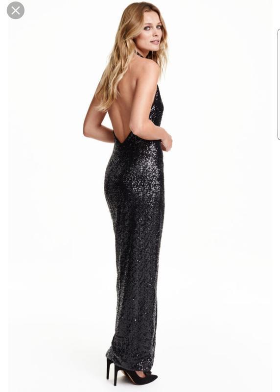Обалденное блестящее вечернее платье пайетки h&m