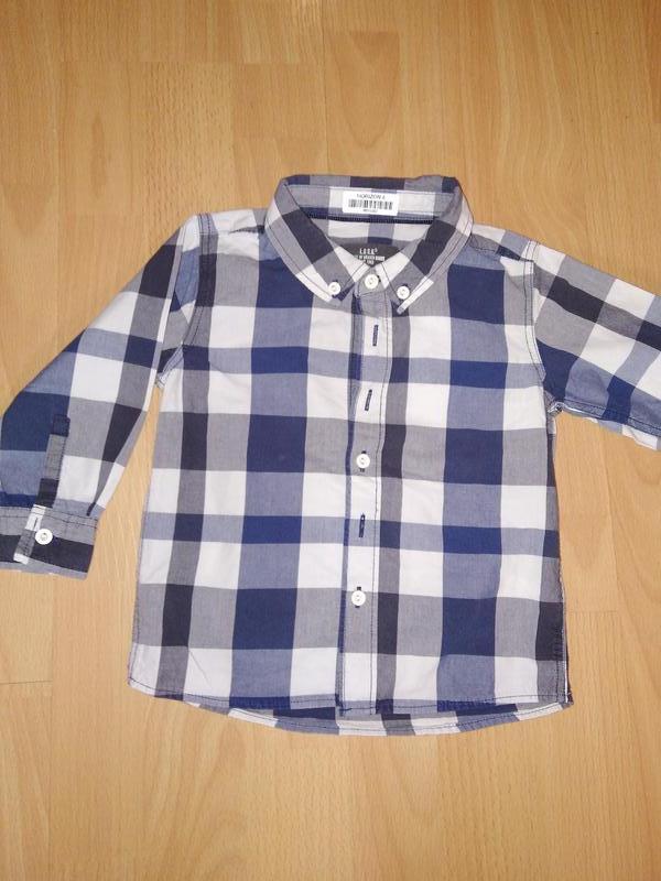 Рубашка на мальчика 9-12 мес H&M