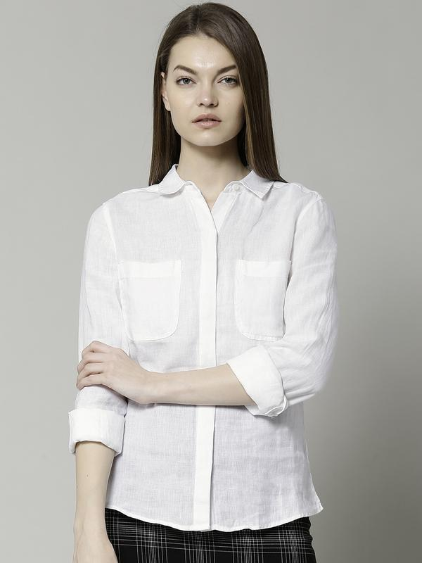 Льняная рубашка marks and spencer
