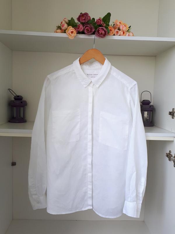 Льняная рубашка marks and spencer - Фото 2