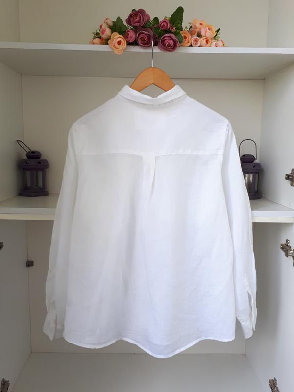 Льняная рубашка marks and spencer - Фото 3