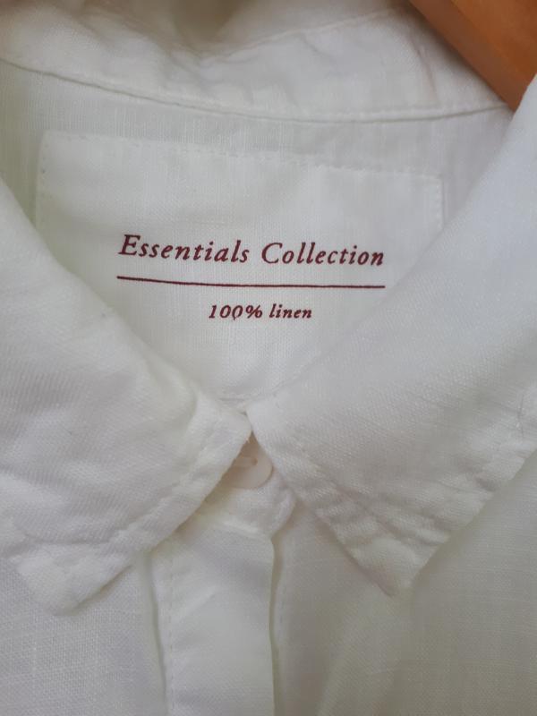 Льняная рубашка marks and spencer - Фото 4
