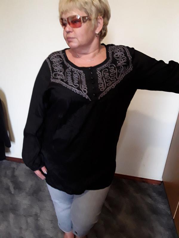Черная блузка - туника