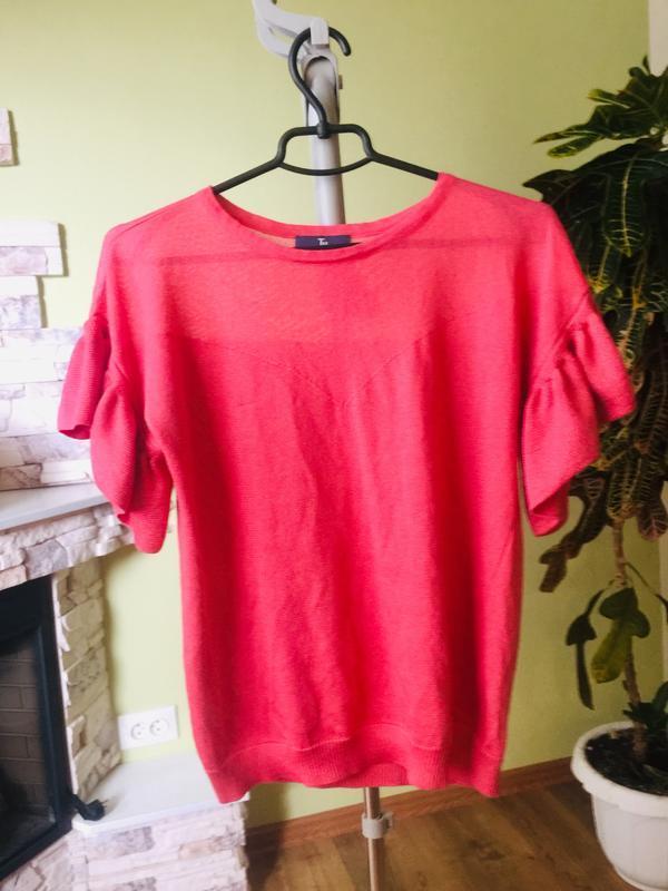Трендова романтична трикотажна блуза-джемпер для стильної осені