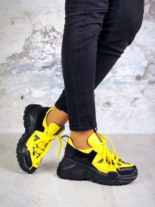 Натуральная кожа качество люкс эксклюзивные яркие кроссовки на...