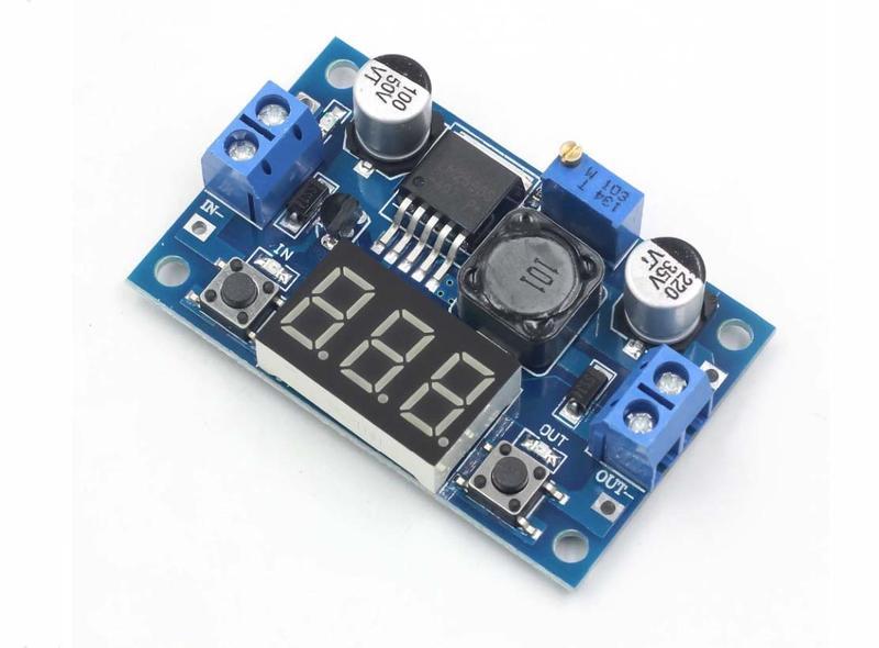 Регулируемый модуль питания + LED вольтметр понижающий LM2596