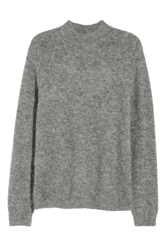Серый свитер h&m premium quality из смесового мохера !